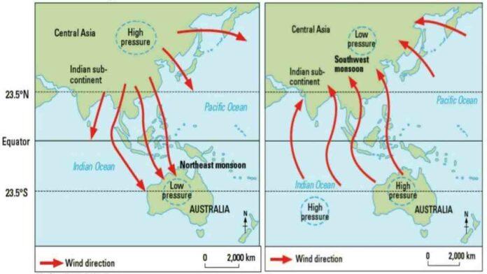 Angin Muson Barat, Proses Terjadinya dan Dampak yang Ditimbulkan