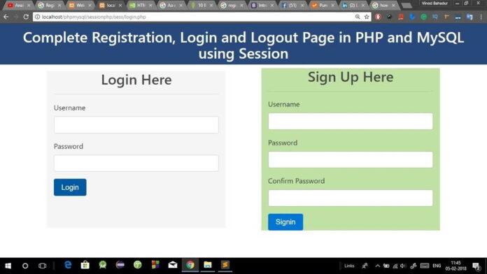 cara membuat login php sederhana